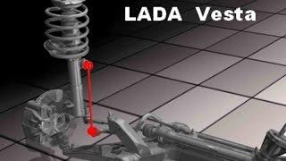 Lada Vesta.  Диагностика стоек стабилизатора