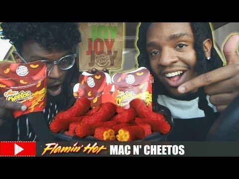 WHAT'S REALLY INSIDE BURGER KING'S FLAMIN' HOT MAC N' CHEETOS???