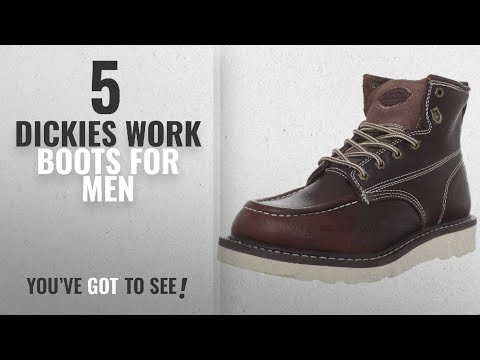"Top 10 Dickies Work Boots [2018 ]: Dickies Men's Trader 6"" Leather Boot,Burgandy,10.5 M US"