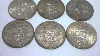 ユリアナ女王 銀貨 直径38mm 15g 1959~1966年 6枚