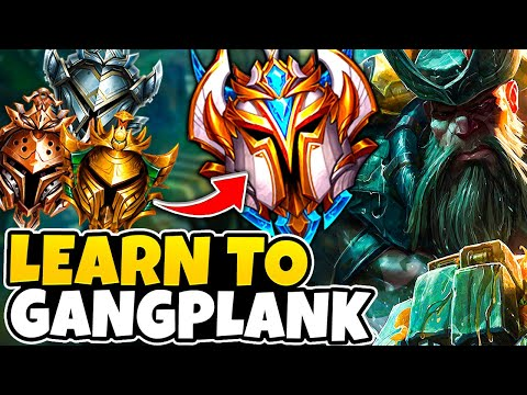 hướng dẫn gangplank - #1 Gangplank Teaches How To Play Gangplank So YOU Can Reach Challenger!
