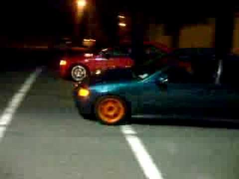 My Green Eg Vs a Red Eg Coupe