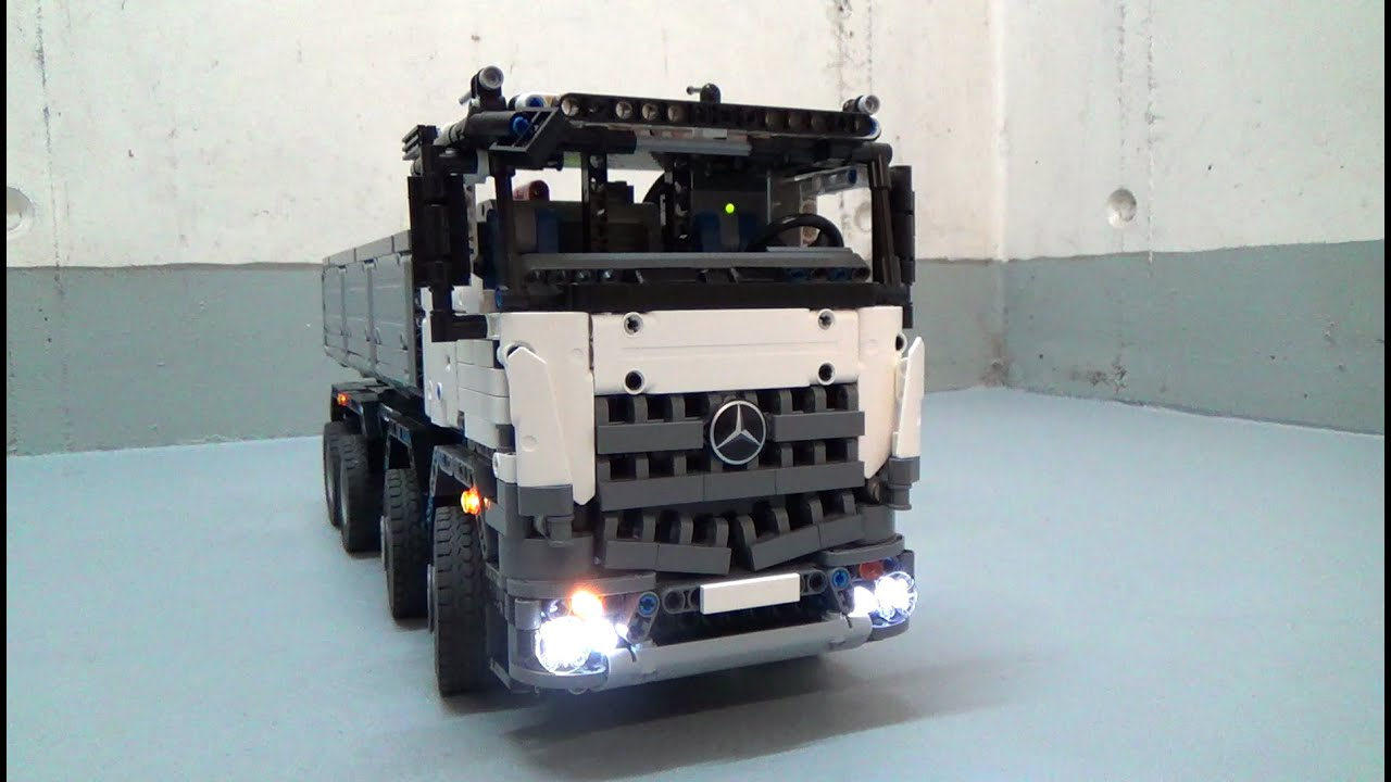lego technic mercedes arocs 8 x 8 moc working. Black Bedroom Furniture Sets. Home Design Ideas