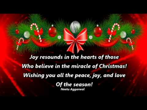 To All My Family & Friends Merry Christmas & Happy New Year - YouTube