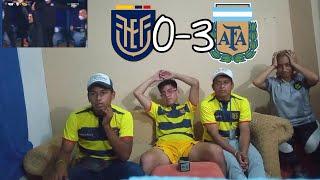 REACCIÓN ECUATORIANA | 3 ARGENTINA VS ECUADOR 0 - COPA AMÉRICA 2021