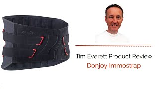 Today we review the Donjoy Immostrap with Tim Everett Osteopath