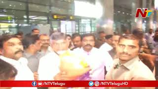 TDP Chief Chandrababu Naidu Reaches Hyderabad After Vizag Tension