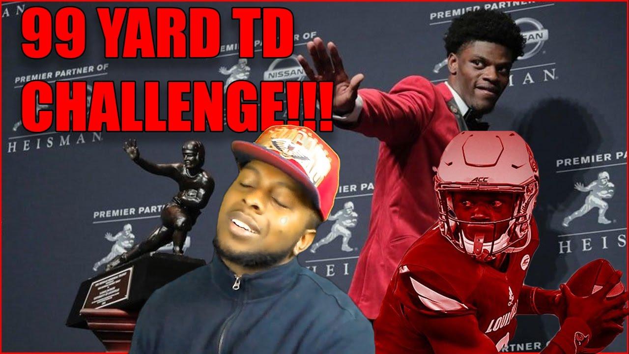 Heisman Trophy Winner Lamar Jackson 99 Yard Td Challenge