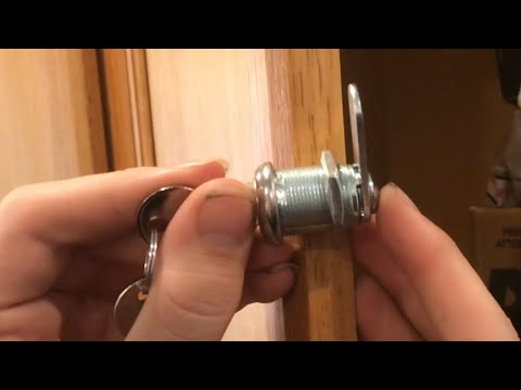 Adding A Lock To The Cabinet Door, How To Lock Kitchen Cabinet Doors