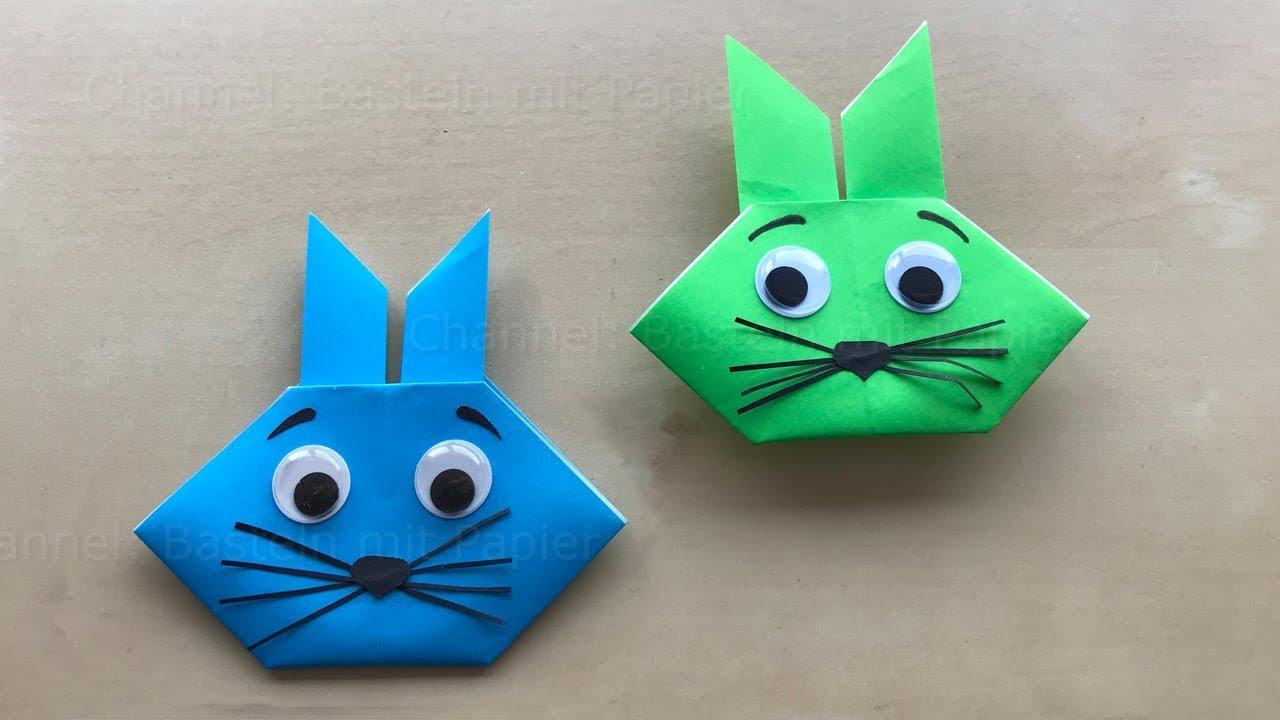 ostern basteln diy origami osterhasen aus papier ostergeschenke osterdeko selber machen. Black Bedroom Furniture Sets. Home Design Ideas