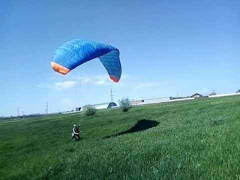 Ground practice with the glider / Супер Параплан ASA Hunter 27  наземный Paragliding тренеровка!