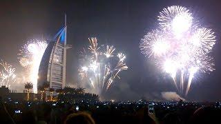 Dubai Burj Al Arab Fireworks New Year 2016     دبي برج الألعاب النارية العرب السنة الجديدة 2016