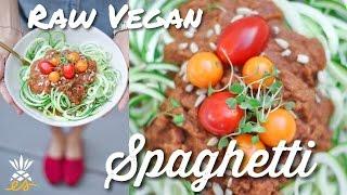 Easy Raw Vegan Spaghetti w/ Savory Tomato Basil Sauce
