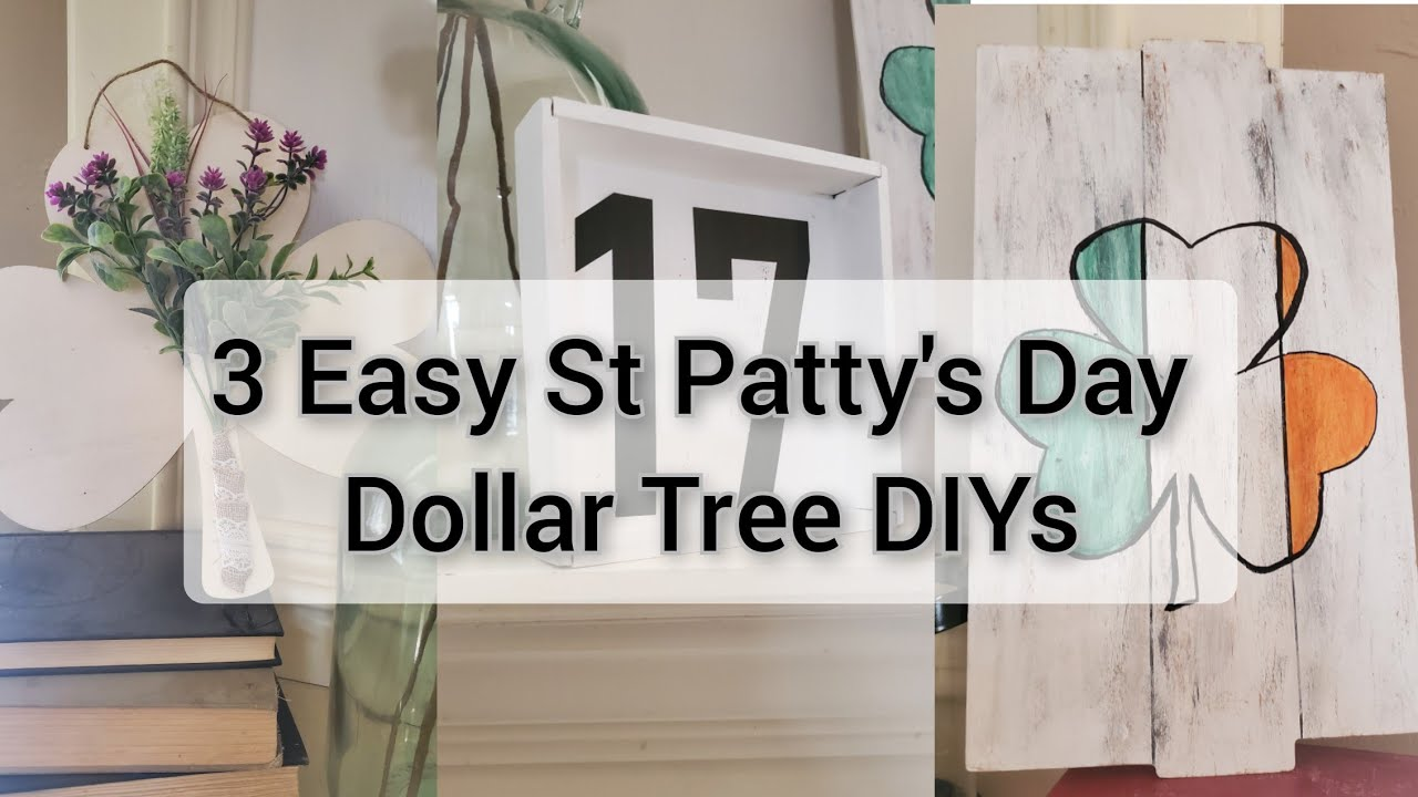 3 ST Patty's Day Dollar Tree DIYS| Sunday Funday Challenge