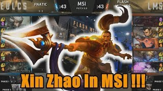 Moojin Locked In Xin Zhao!!! - FNC VS FW Highlights - 2018 MSI Group Stage Day 4