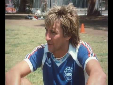Rare interview with Rod Stewart while playing Football in 1983