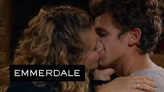 Emmerdale - Maya Kisses Jacob