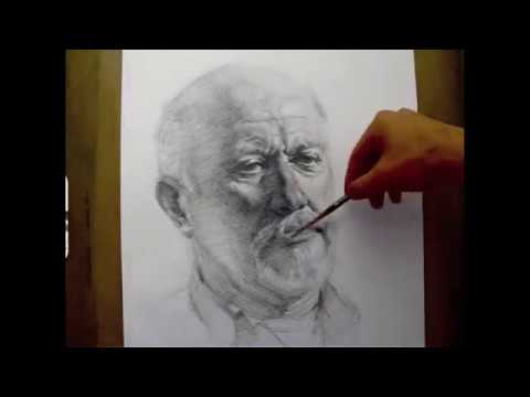 """Herman"", 2 hours live crosshatching drawing demo by Zimou Tan."