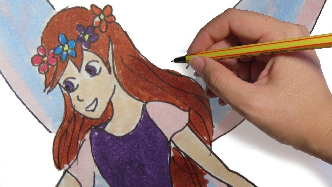 Como Dibujar Un Hada Facil Paso A Paso A Lapiz Y A Color Youtube