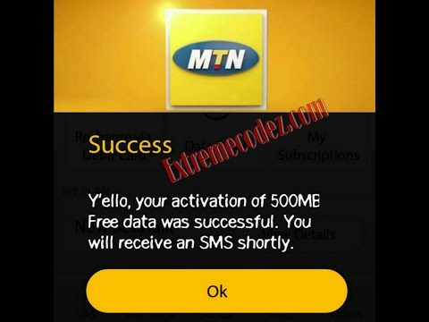 MyMTN App Free 1GB, 500MB And 100MB Data Bonus