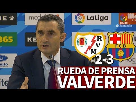 Rayo 2-3 Barcelona   Rueda de prensa de Valverde   Diario AS