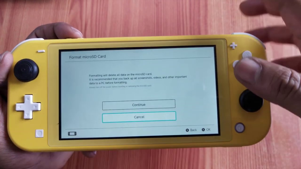 How To Format Micro Sd Card In Nintendo Switch Lite Youtube