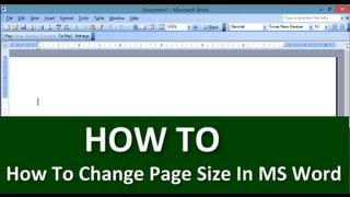 Learn How To Change Page Size In MS-Word | Tips & Tricks | Free Technology Tutorials From MindGuruTV