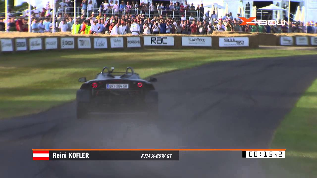 The KTM X-BOW GT at the Goodwood Festival of Speed