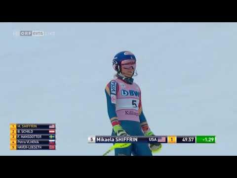 Mikaela SHIFFRIN 1st run - SL KILLINGTON (USA) 2017
