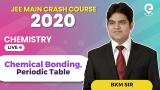 JEE MAIN Crash Course | Chemistry | Chemical Bonding, Periodic Table by BKM Sir | Extraclass.com