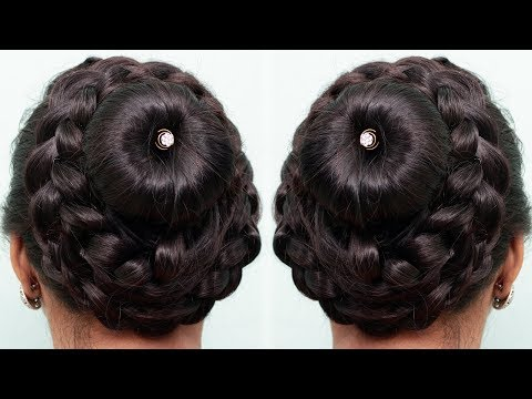 Bun Hairstyles for Your Wedding Day | Beautiful Bun hairstyles with Trick | Cute hairstyles