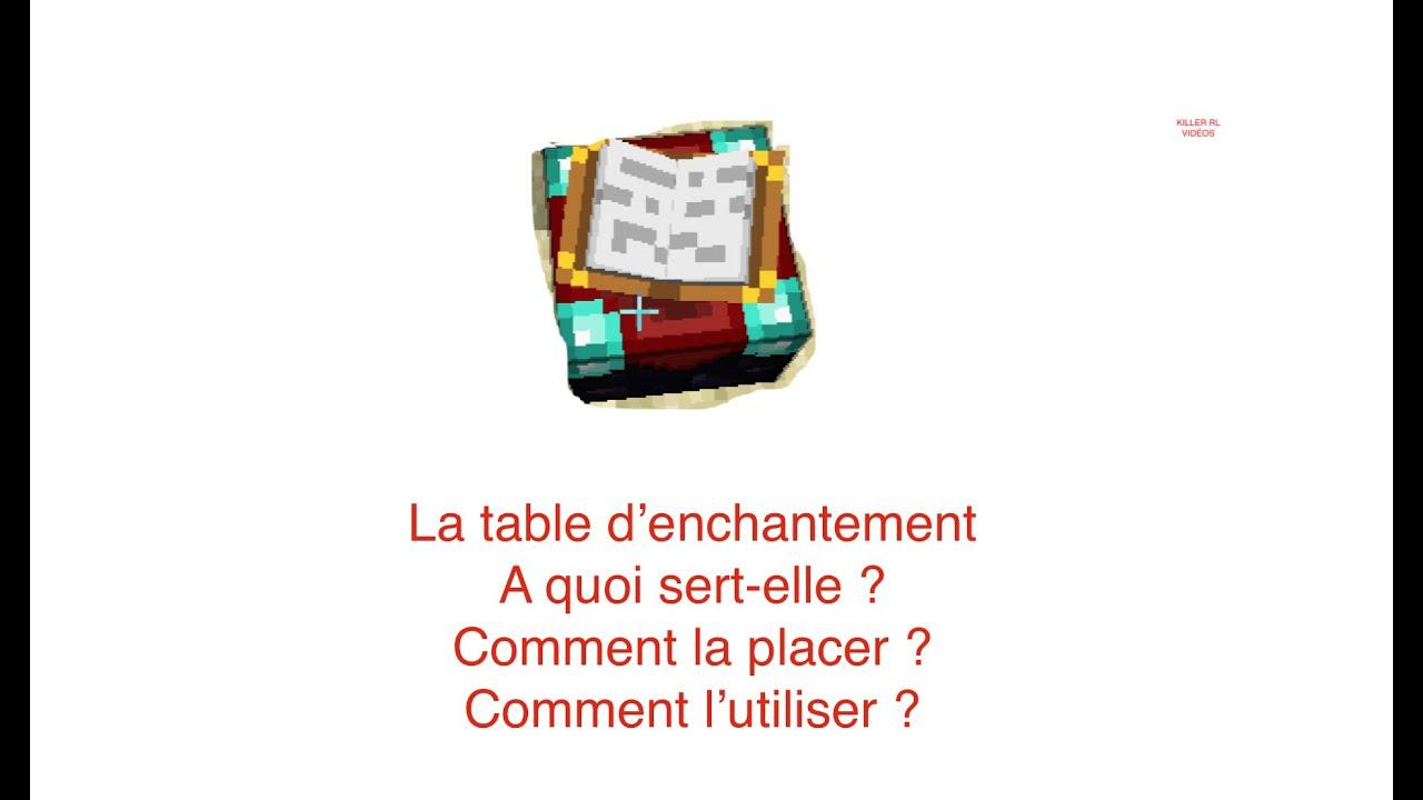 La table d 39 enchantement minecraft killer rl youtube - Table d enchantement minecraft ...