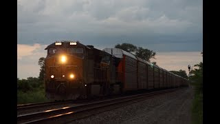 CSX Auto Rack Train with Mid Train DPUs