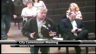 Garden City Commission Meeting January 05, 2016