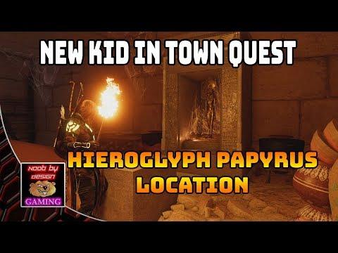 Assassins Creed Origins - Hieroglyph Papyrus Location