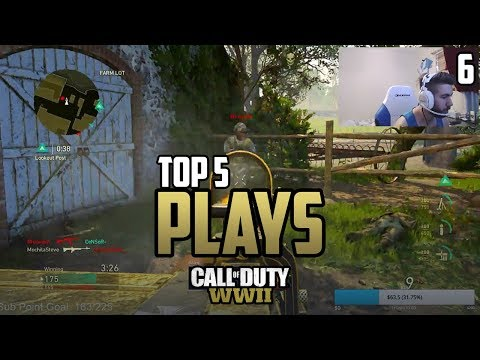 Parasite 1v3 SOLO RUN Flag Cap - COD WWII: TOP 5 PRO PLAYS #6 - Call of Duty World War 2
