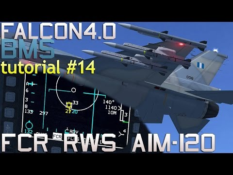 Falcon 4 BMS 4.33 Tutorial 14 using FCR in RWS mode with AIM-120 AMRAAM