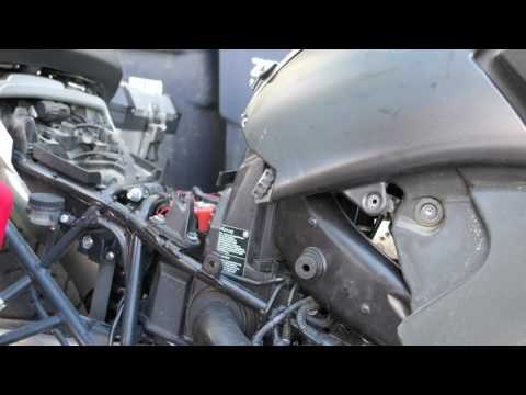 Installing a K&N Air Filter on the 2009 BMW R1200 GS Adventure