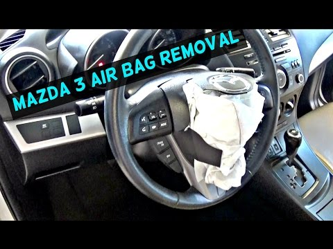 MAZDA 3 DRIVER STEERING WHEEL AIRBAG Air Bag REMOVAL REPLACEMENT 2010 2011 2012 2013