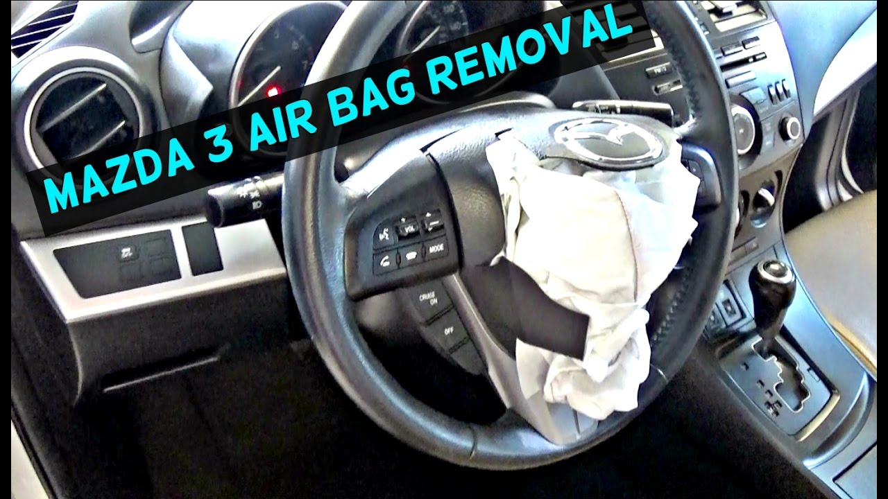 mazda 3 driver steering wheel airbag air bag removal replacement 2010 2011 2012 2013 [ 1280 x 720 Pixel ]