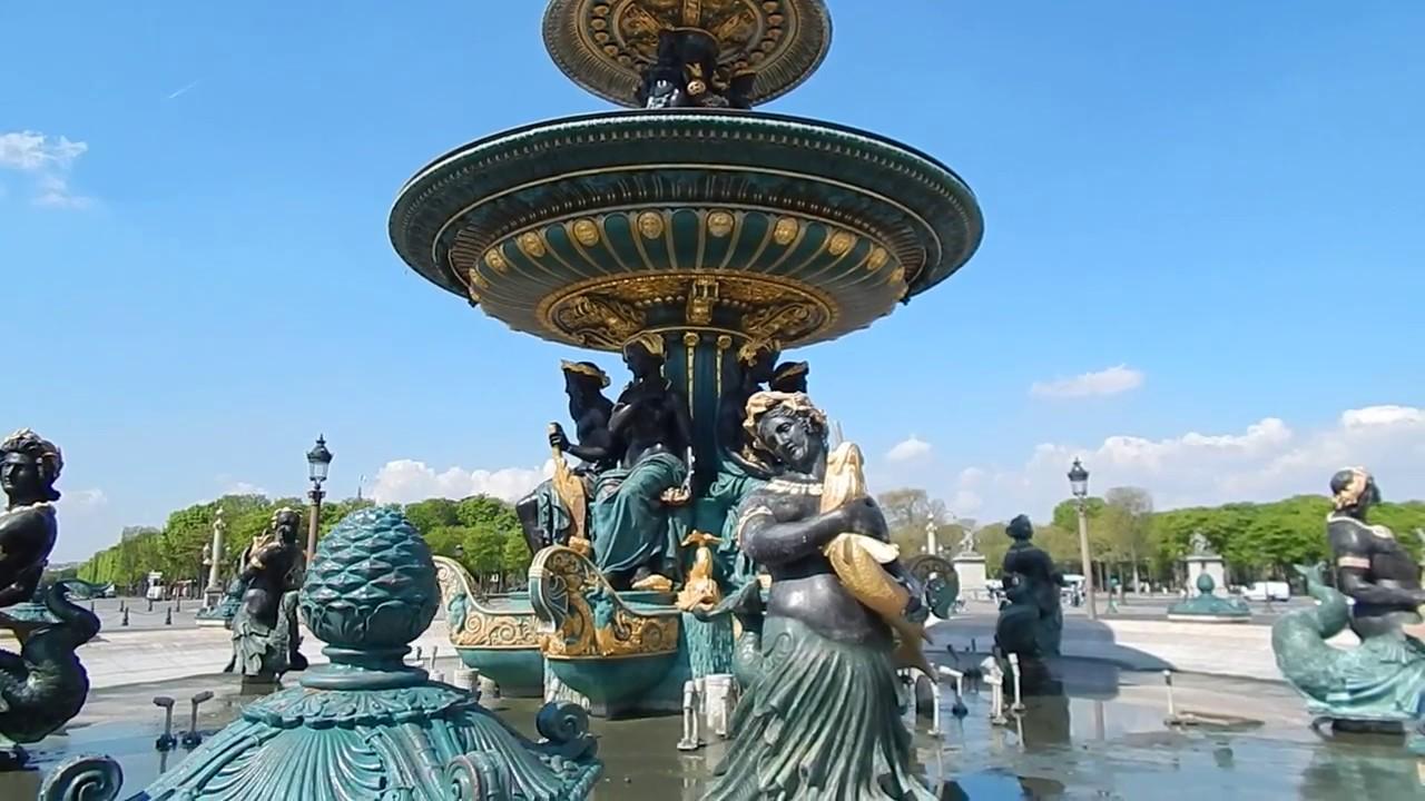 Plaza De La Concordia concorde square in paris (hd)/plaza de la concordia en parís (hd)