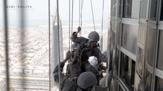 High rope access at Burj Khalifa