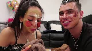 Cyrus and Christina! DOING MAKEUP WITH THINGS FROM OUR FRIDGE! (very funny)