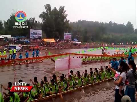 Lao NEWS on LNTV: Boat racing festivals are taking place in Xayaboury province.4/10/2016