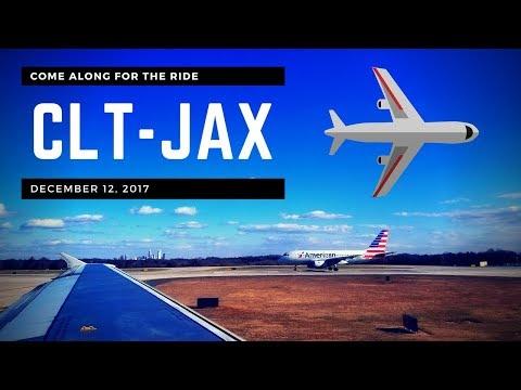 (2017) American Airlines | ✈️⛅ Charlotte-Douglas (CLT) to Jacksonville (JAX) Airport ⛅✈️
