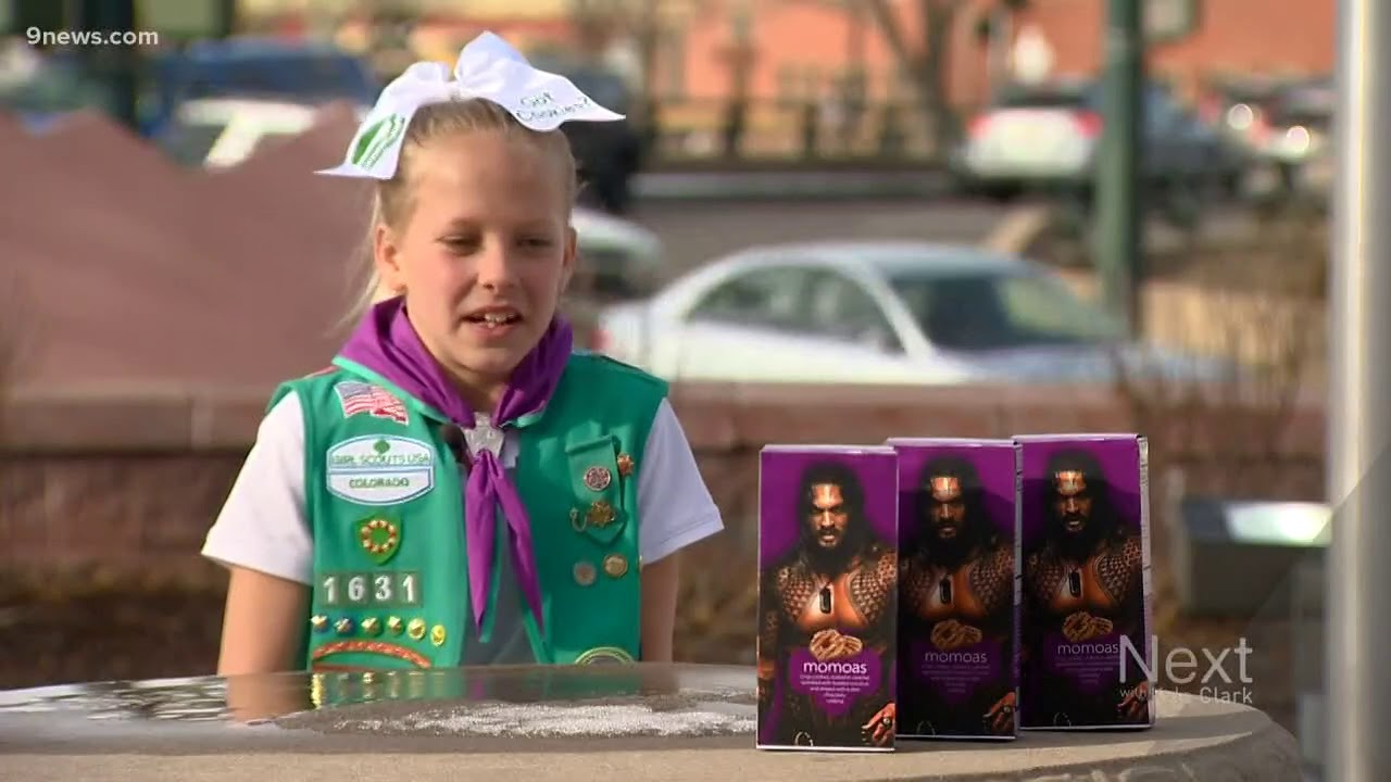 This Girl Scout Is Selling Jason Momoa Themed Samoas Cookies Youtube