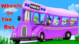 Wheels On The Bus   Junior Squad   Cartoon Videos For Babies By Kids Tv