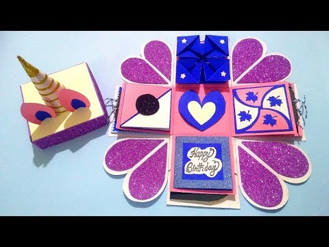 Beautiful Handmade Explosion box Idea for Birthday  | complete tutorial