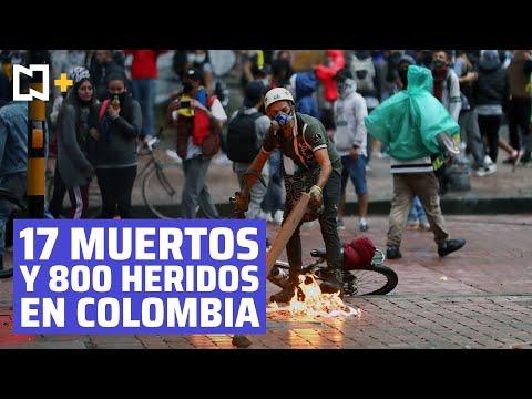 Al menos 17 muertos en cinco días de protestas en Colombia