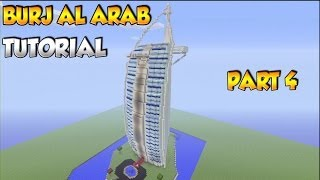 Minecraft: How to build the Burj Al Arab Tutorial PART 4 - XBOX/PS3/PC